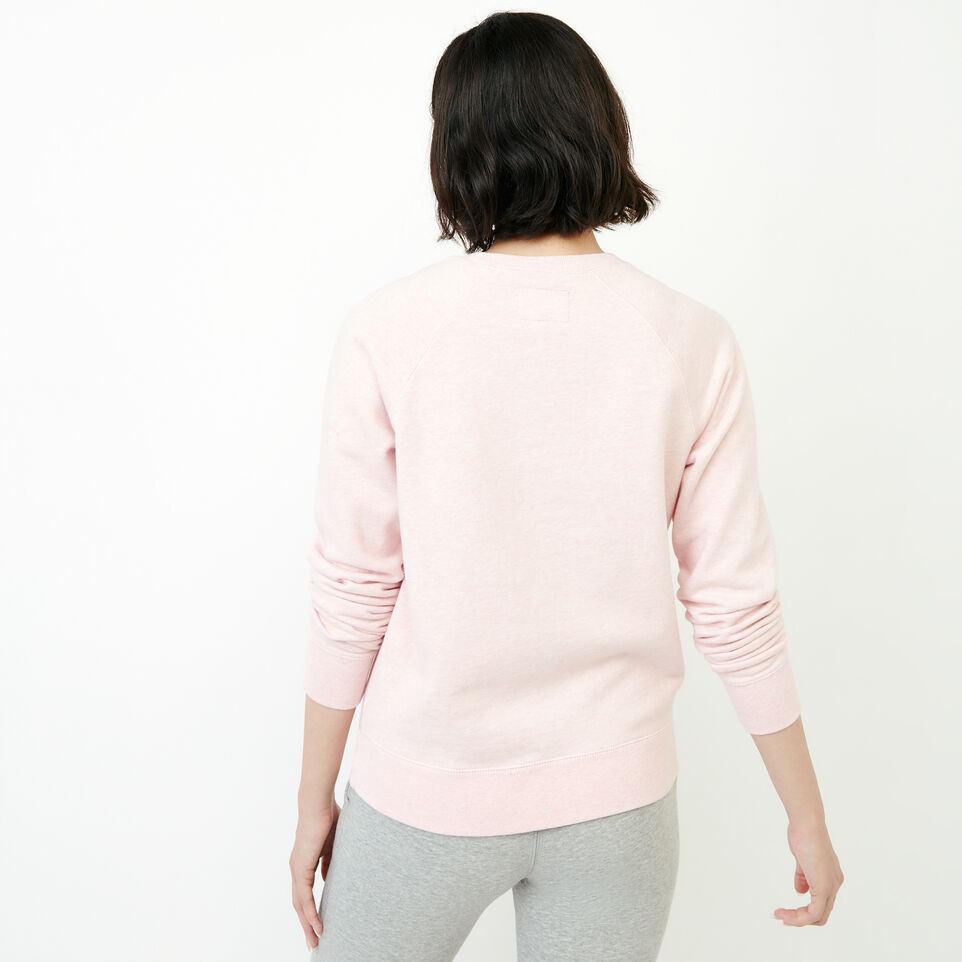 Roots-Women New Arrivals-Vault Relaxed Crew Sweatshirt-English Rose Mix-D