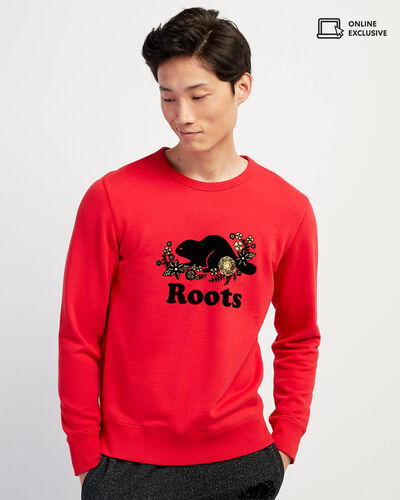 Roots-Men Sweatshirts & Hoodies-Lunar New Year Slim Crew Sweatshirt-Racing Red-A