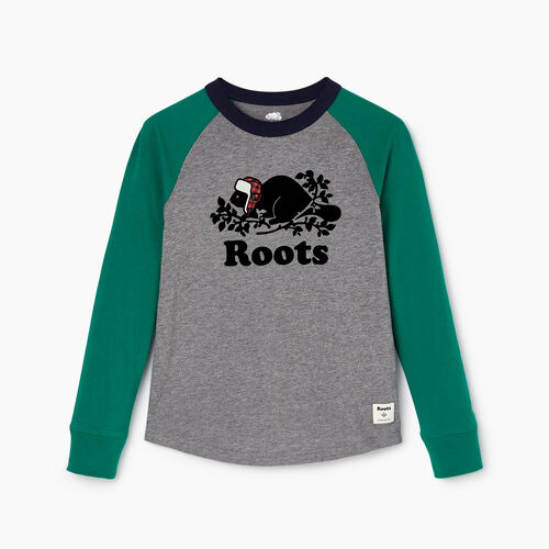Roots-Kids Toddler Boys-Toddler Buddy Raglan T-shirt-Ultramarine Green-A