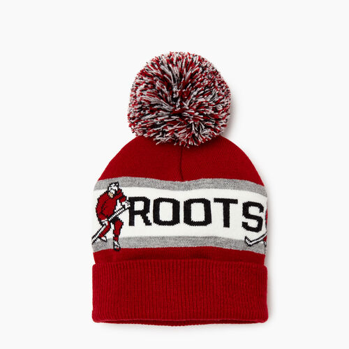 Roots-Clearance Kids-Kids Hockey Toque-Red-A