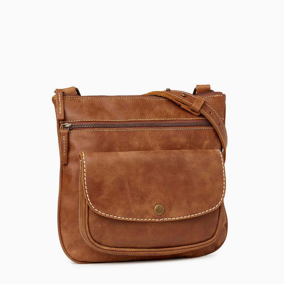 Roots-Women Crossbody-Riverside Saddle-Natural-A