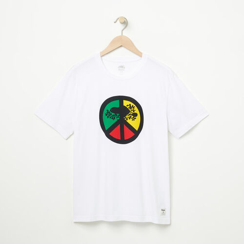 Roots-Men Graphic T-shirts-Mens Roots Peace T-shirt-White-A