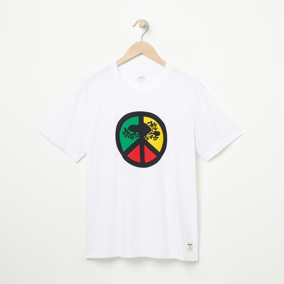 Roots-undefined-Mens Roots Peace T-shirt-undefined-A