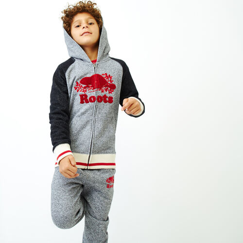 Roots-New For November Kids-Boys Roots Cabin Zip Hoody-Salt & Pepper-A