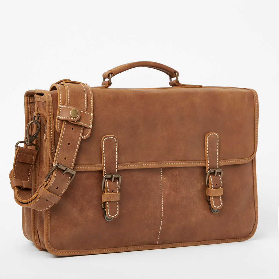 Roots-Leather Briefcases & Messengers-The Original Briefcase-Natural-A