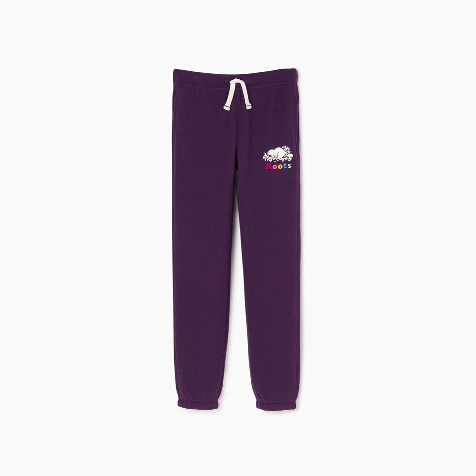 Roots-undefined-Pantalon original en coton ouaté Roots pour filles-undefined-A
