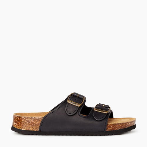 Roots-Footwear Categories-Womens Natural 2 Strap-Black-A