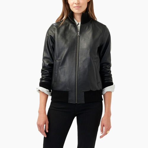 Roots-Leather  Handcrafted By Us Leather Jackets-Soho Jacket Lake-Black-A