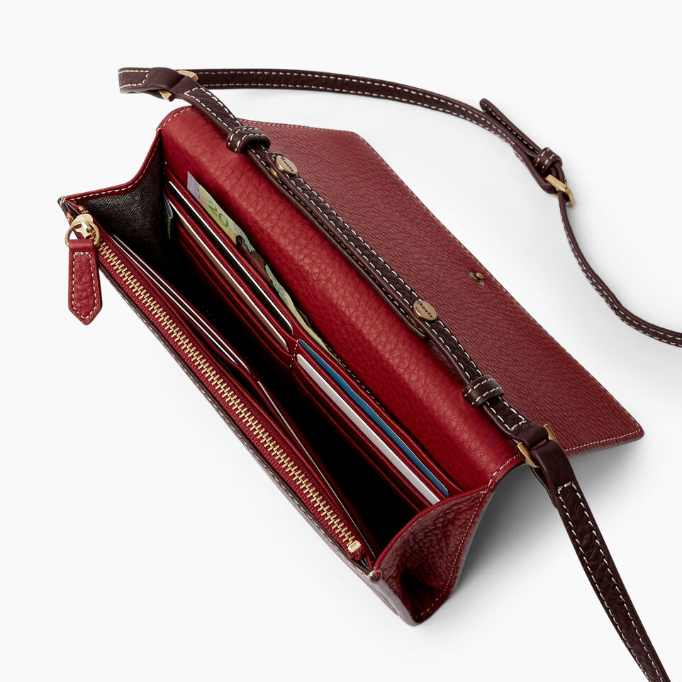 Roots-Leather Wallets-Large Stella Wallet Bag-Raspberry Wine-E