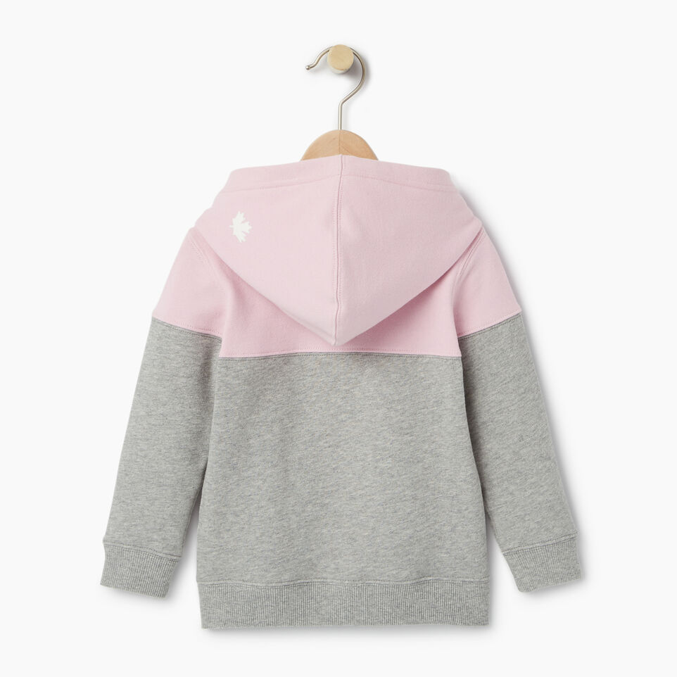 Roots-Kids Our Favourite New Arrivals-Toddler Colour Block Full Zip Hoody-Pink Mist-B