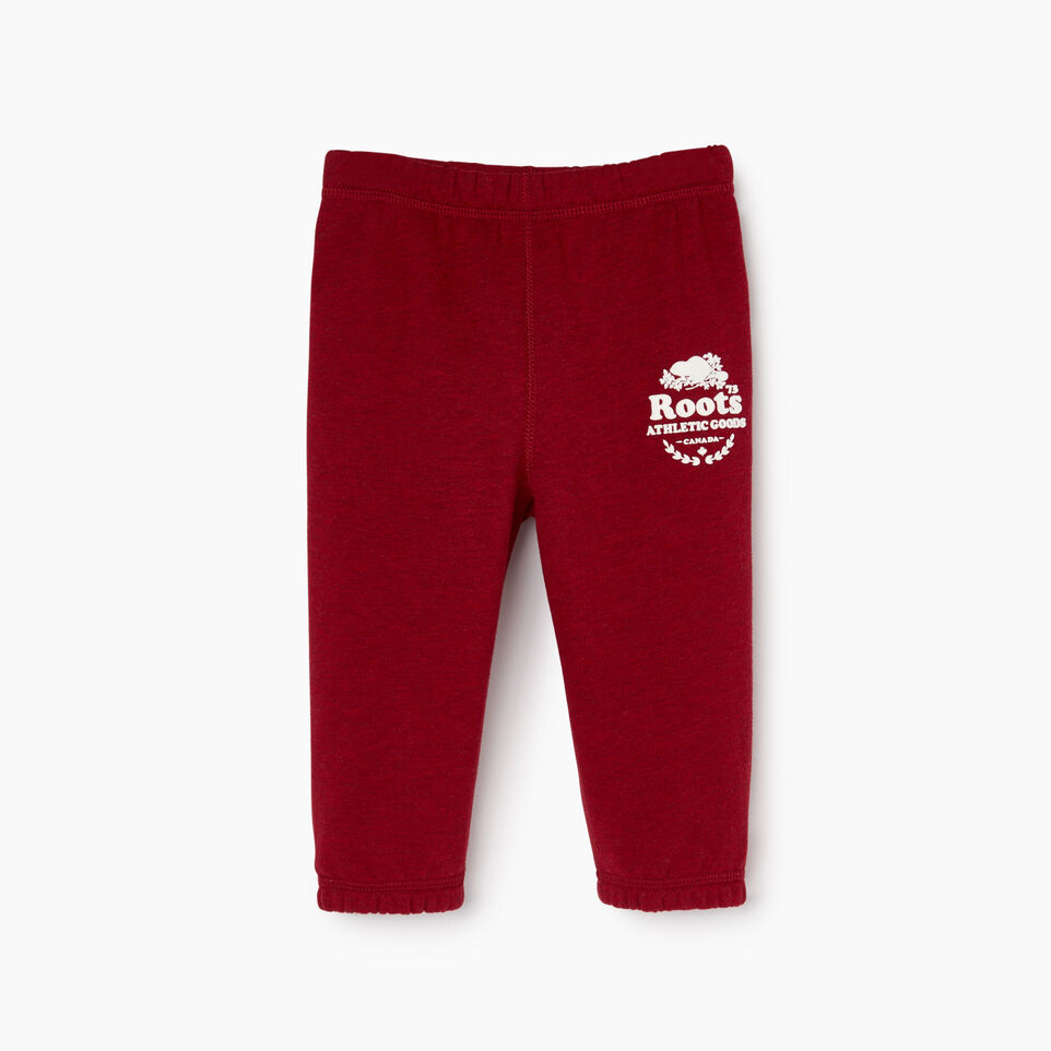 Roots-New For December Kids-Baby Laurel Sweatpant-Cabin Red Mix-A