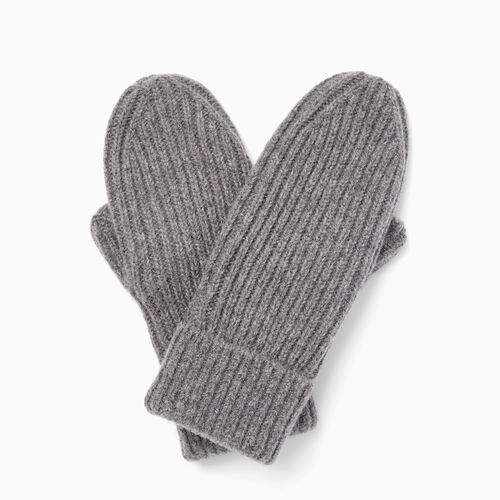 Roots-Clearance Accessories-Granville Mitt-Medium Grey Mix-A