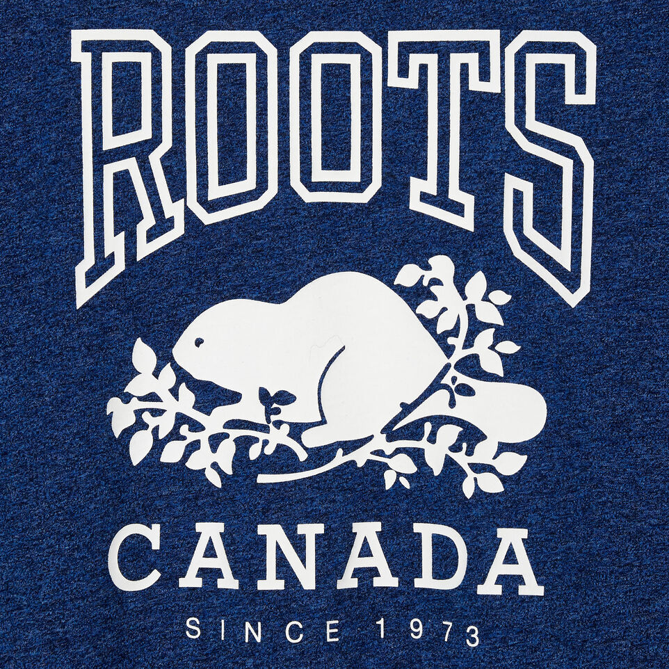 Roots-New For August Women-Womens Classic Roots Canada T-shirt-Olympus Blue Mix-D