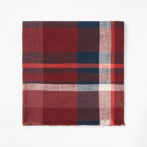 Roots-Women Scarves & Wraps-Womens Madras Scarf-Port-A