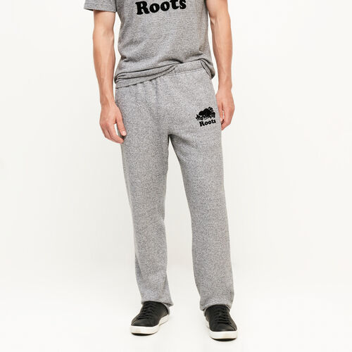 Roots-Men Collections-Heritage Sweatpant-Salt & Pepper-A