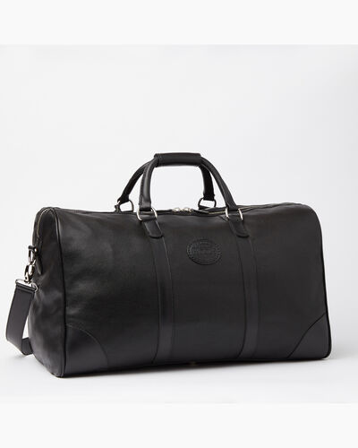 Roots-Leather Weekender Bags-Large Banff Bag Prince-Black-A