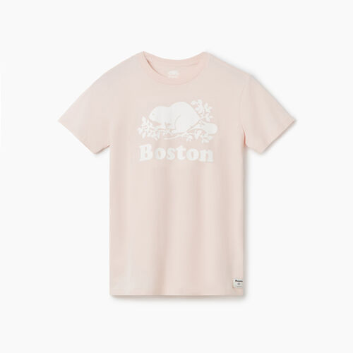 Roots-Sale Tops-Boston T-Shirt - Womens-Pink Cloud-A