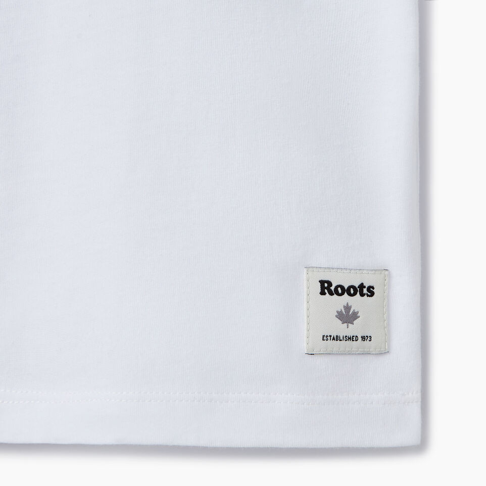 Roots-New For July Daily Offer-Womens Am/pm T-shirt-Crisp White-C