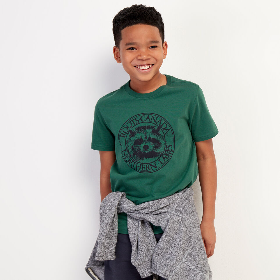 Roots-undefined-Boys Cooper Animal T-shirt-undefined-A