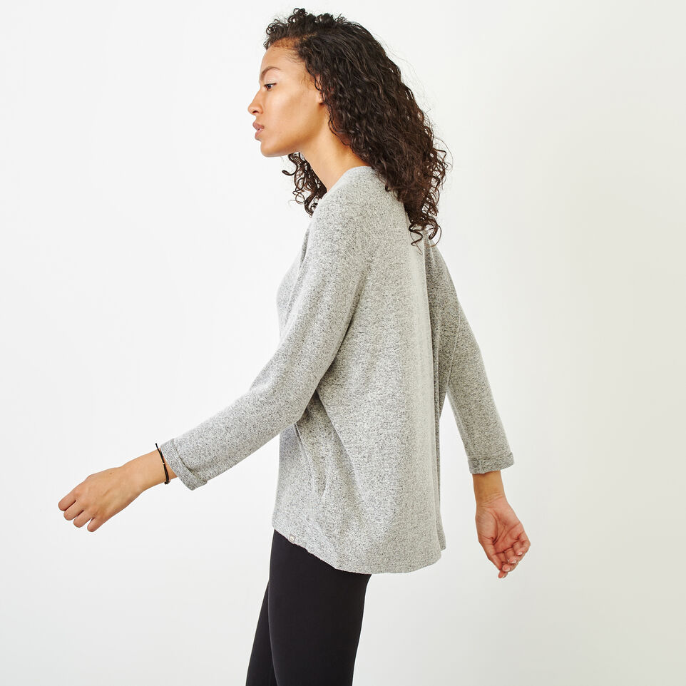 Roots-Women Clothing-Crawford Top-Grey Mix-C