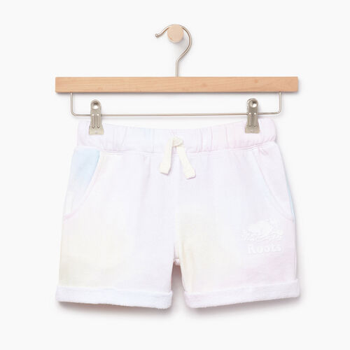 Roots-Kids Our Favourite New Arrivals-Girls Watercolour Short-Ivory-A