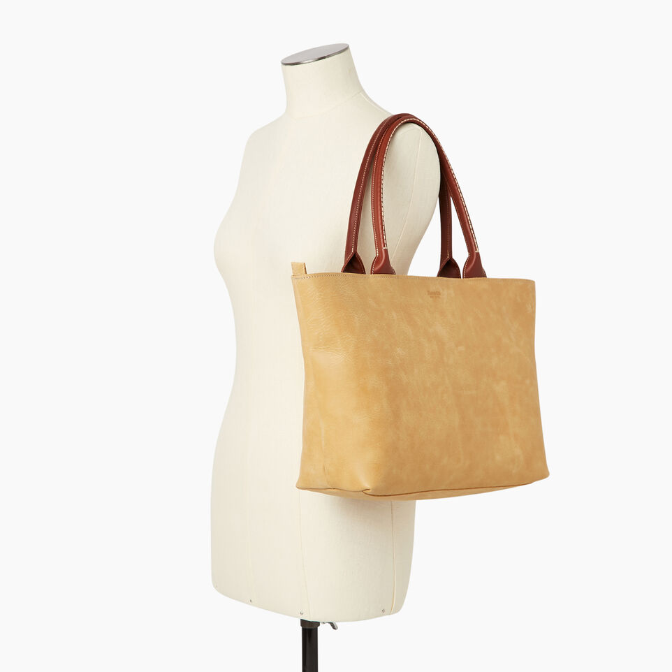 Roots-Leather Our Favourite New Arrivals-Mont Royal Tote-Medallion/oak-B