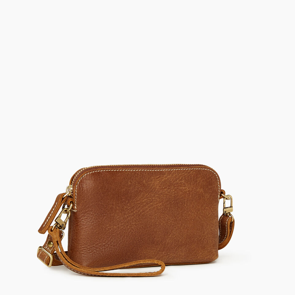Roots-Leather New Arrivals-Christie Crossbody Tribe-Natural-C