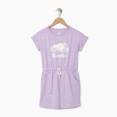 Roots-Sale Kids-Girls T-shirt Dress-Lavendula-A