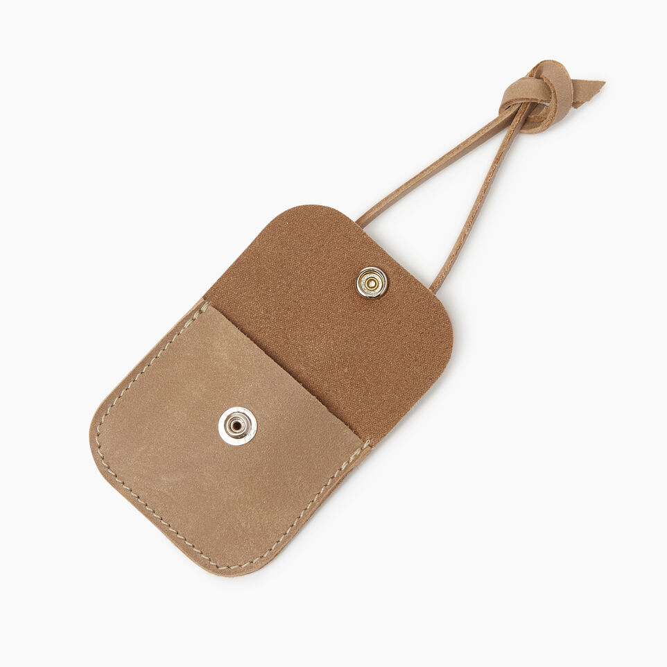 Roots-Leather  Handcrafted By Us Collections-Leather Tie Pouch-Sand-B