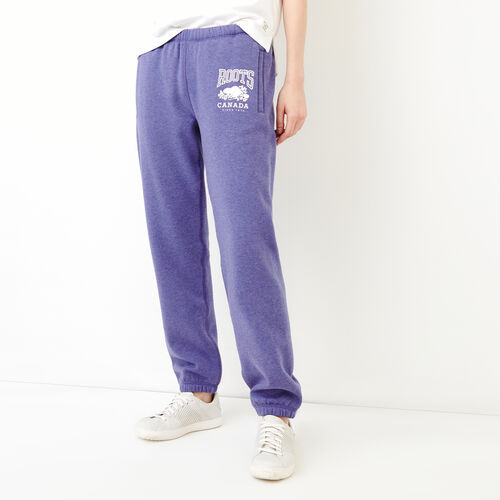 Roots-New For February Sweats-Classic Boyfriend Sweatpant-Violet Storm Mix-A