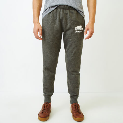 Roots-Men Slim Sweatpants-Cooper Park Slim Sweatpant-Loden Pepper-A