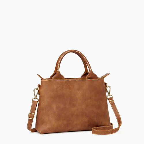 Roots-Leather Collections-City Mont Royal Bag-Natural-A