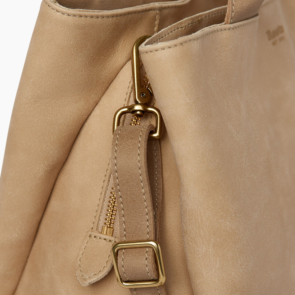 Roots-Leather  Handcrafted By Us Handbags-Mont Royal Bag-Sand/latté-E