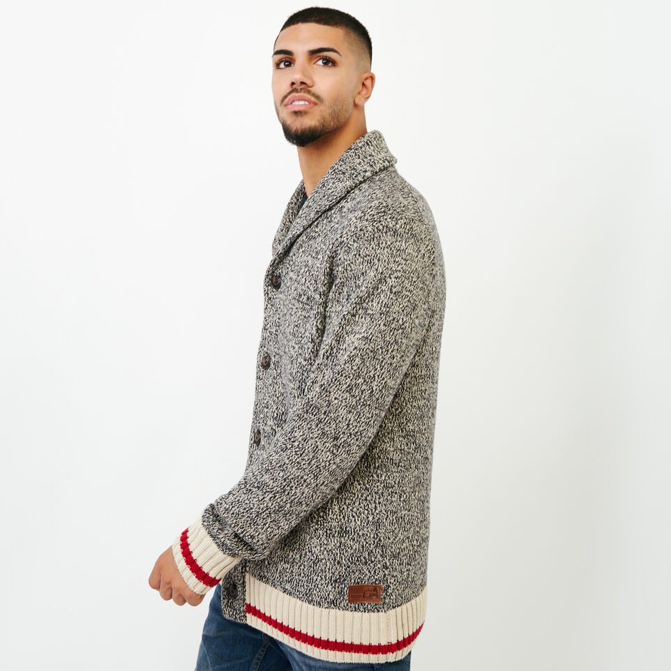 Roots-Men Sweaters & Cardigans-Roots Cotton Cabin Cardigan-Speckle-C