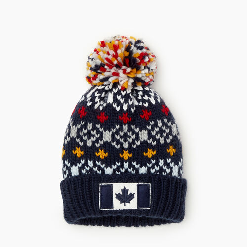 Roots-Sale Kids-Toddler Retro Fair Isle Toque-Navy-A