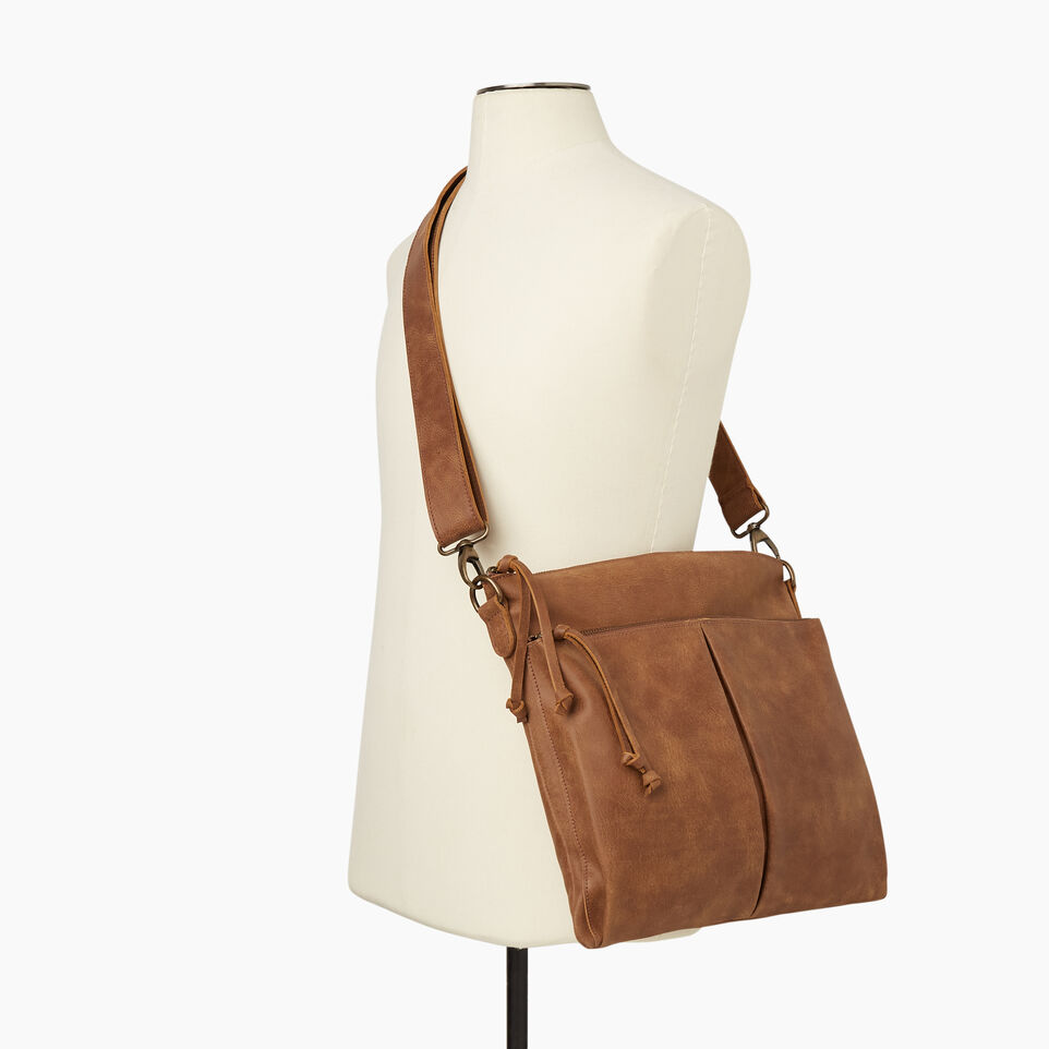 Roots-Leather New Arrivals-Cargo Bag Tribe-Natural-B