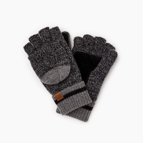 Roots-Gifts Accessory Sets-Womens Roots Cabin Flip Mitt-Black Mix-A