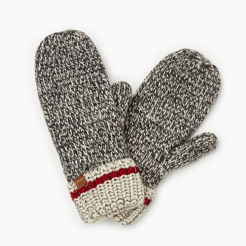 Roots-Gifts Accessory Sets-Chunky Cabin Mitt-Grey Oat Mix-A