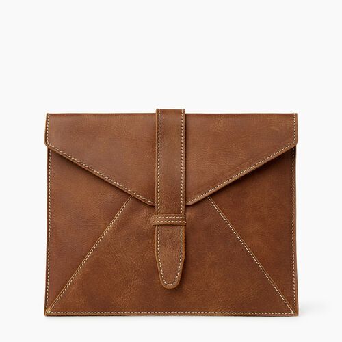 Roots-Leather Tech & Travel-Tablet Sleeve Tribe-Natural-A