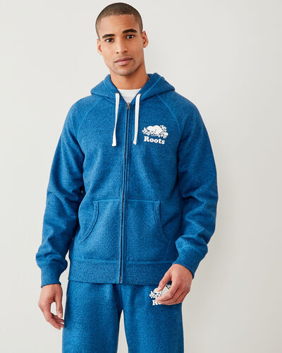 Roots-Men Sweatshirts & Hoodies-Original Full Zip Hoody-Classic Blue Pepper-A