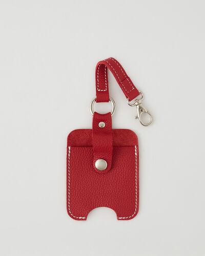 Roots-Leather New Arrivals-Hand Sanitizer Holder 2.0-Lipstick Red-A