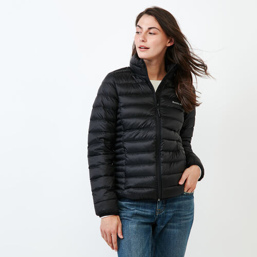 Roots-Women Outerwear-Roots Slim Packable Jacket-Black-A