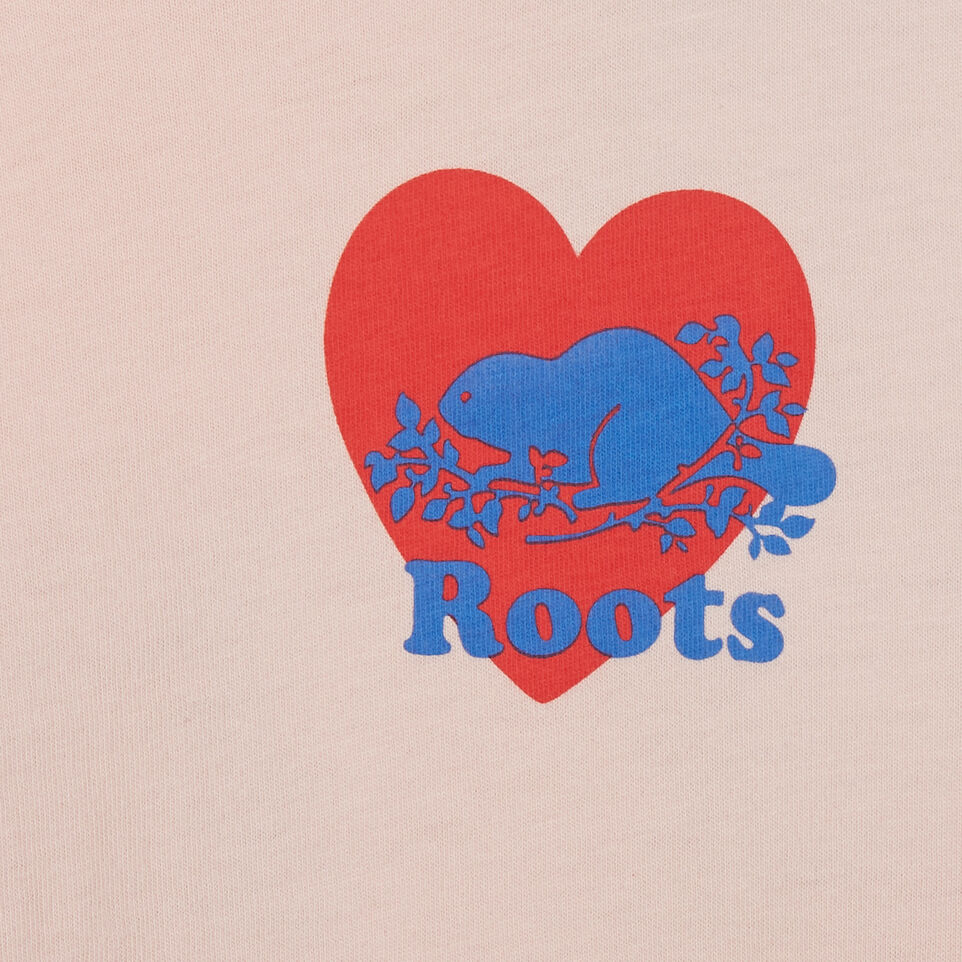 Roots-Kids New Arrivals-Girls Roots Pride T-shirt-English Rose-C
