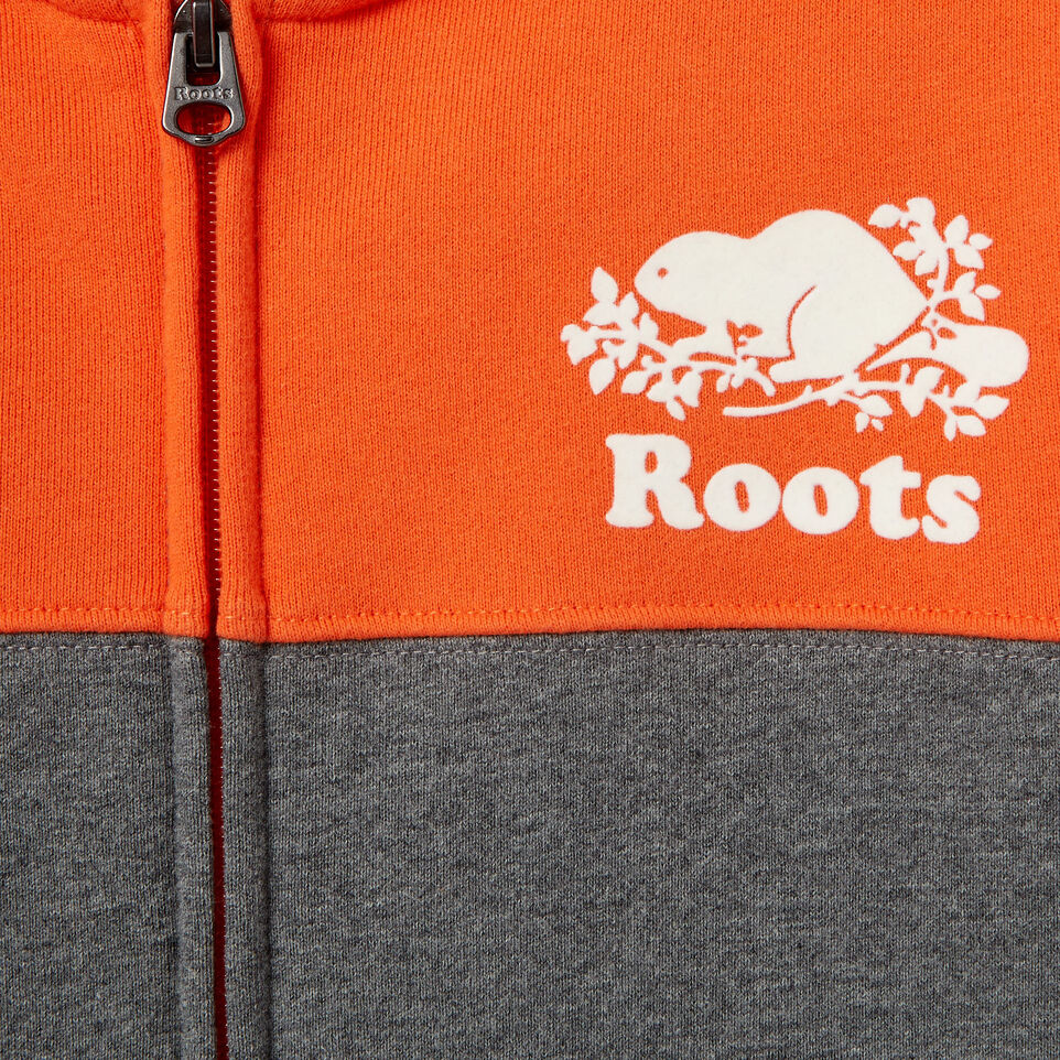 Roots-Kids Our Favourite New Arrivals-Boys Colour Block Cooper Hoody-Medium Grey Mix-D