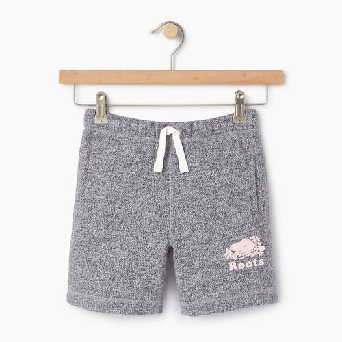 Roots-Kids Categories-Girls Original Roots Short-Salt & Pepper-A