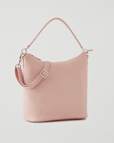Roots-Leather Leather Bags-Ella Bag Cervino-Pink Pearl-A