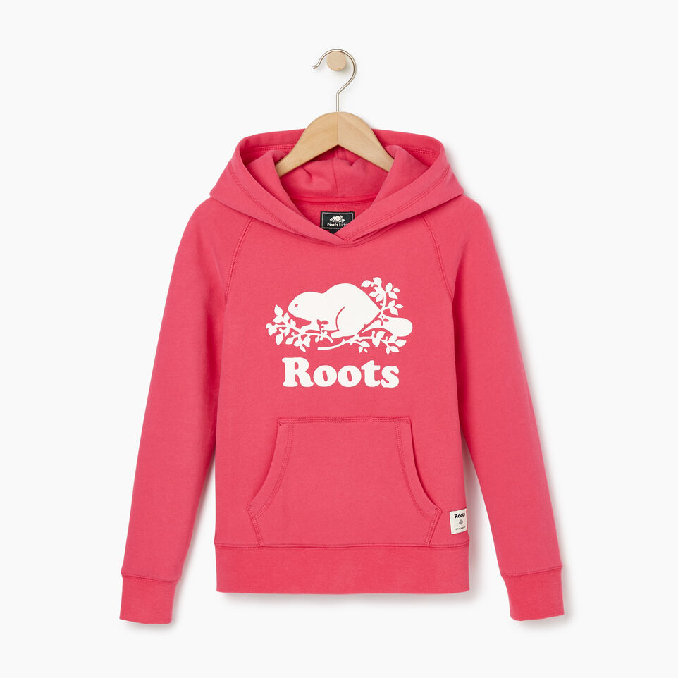 Roots-Kids Our Favourite New Arrivals-Girls Original Kanga Hoody-Pink Flambã‰-B