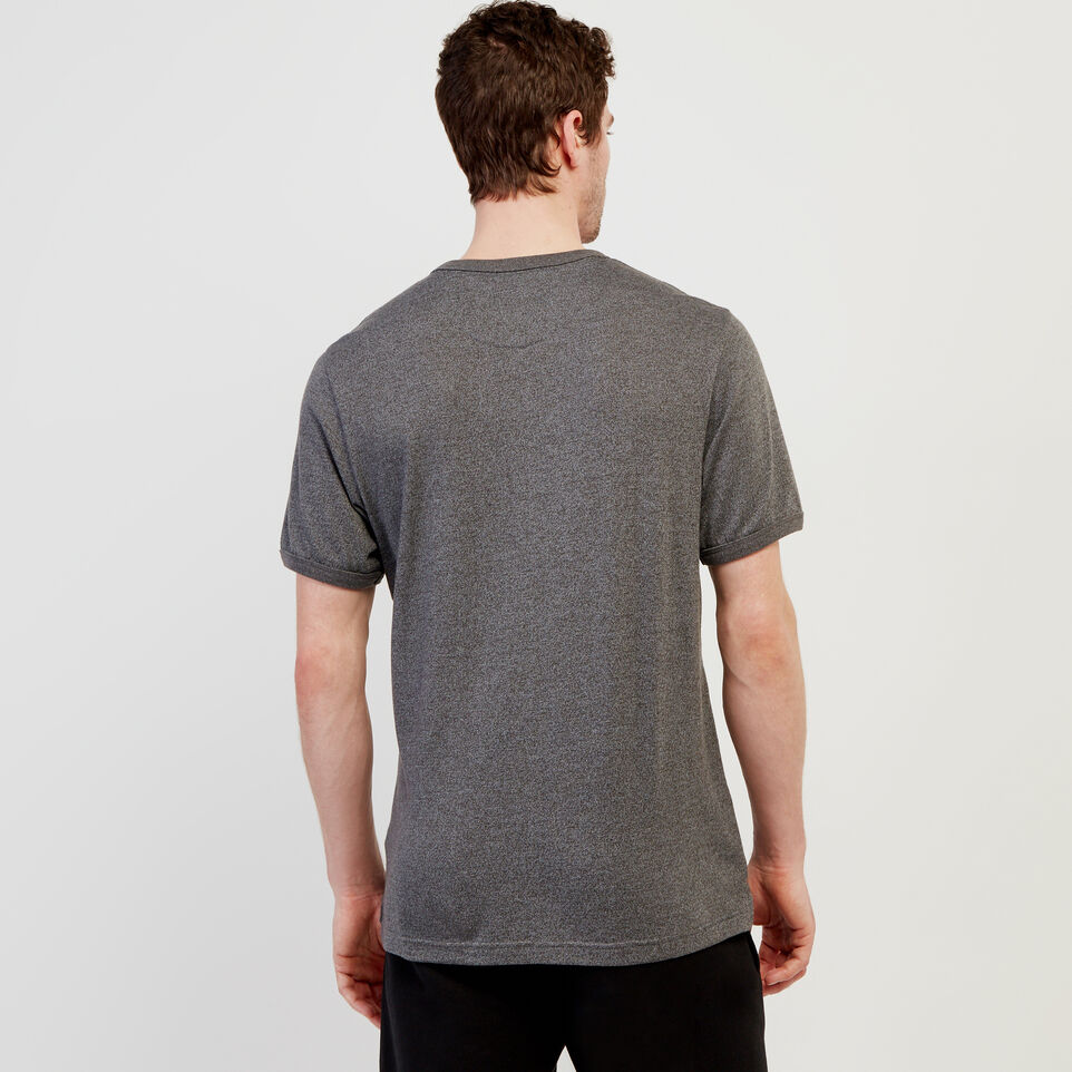 Roots-Men Short Sleeve T-shirts-Perfect Pepper Henley-Charcoal Pepper-D