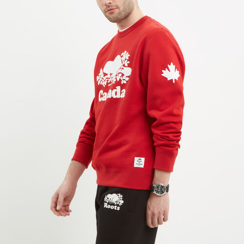 Roots-Men Canada Collection By Roots™-Mens Cooper Canada Crew Sweatshirt-Sage Red-A