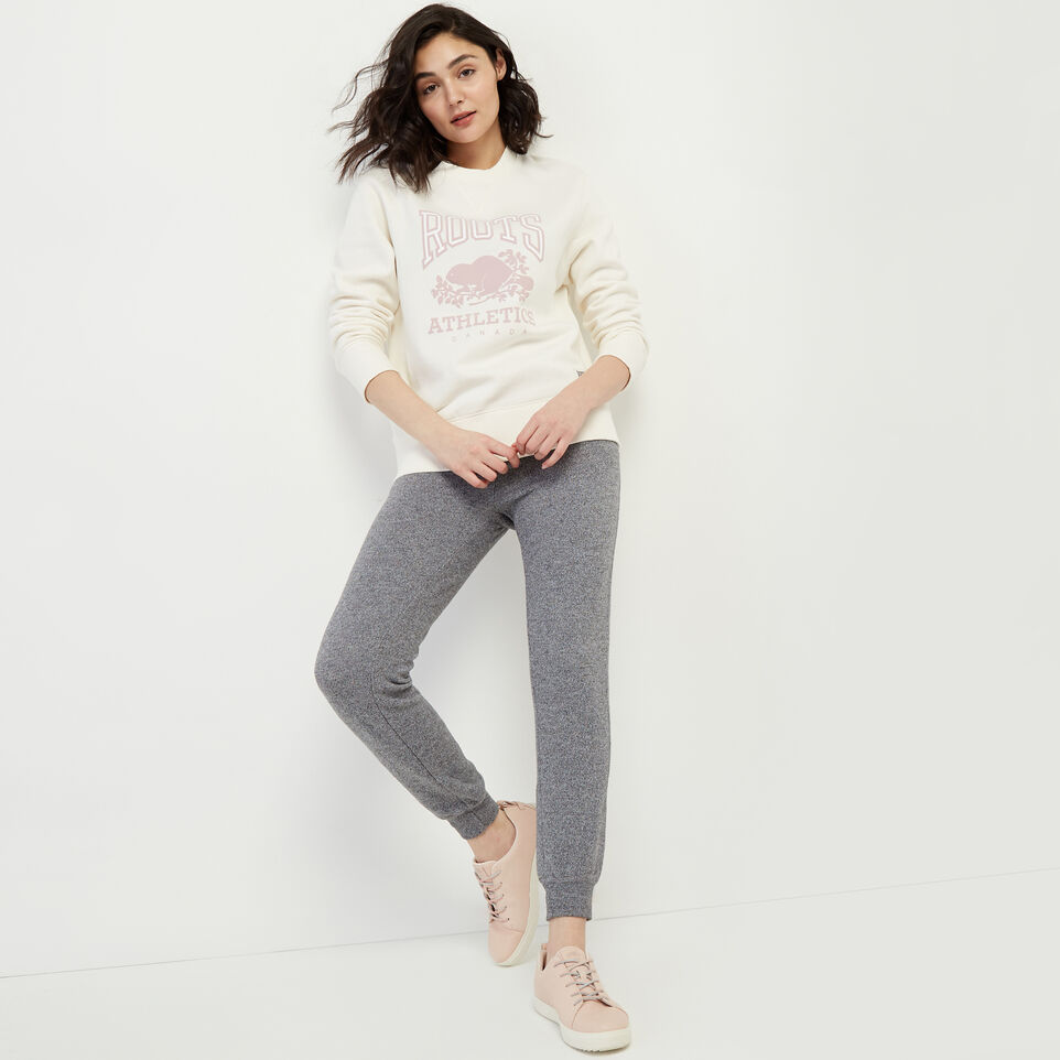 Roots-New For March Rba Collection-RBA Boyfriend Crew Sweatshirt-Egret-B